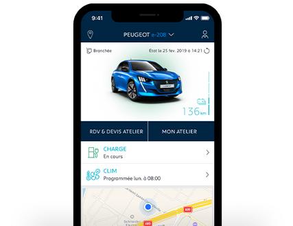 Contrôle à distance de la charge d'un véhicule Peugeot depuis l'application MyPeugeot