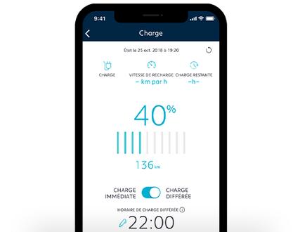 Pilotez la recharge de votre véhicule électrique à distance depuis l'application MyPeugeot