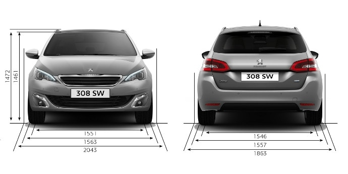 peugeot 308 sw informations techniques et motorisations. Black Bedroom Furniture Sets. Home Design Ideas